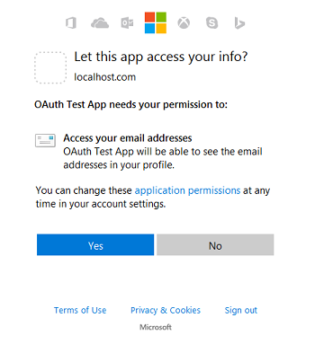 Using Microsoft Login for Authentication in Asp Net MVC 5 0