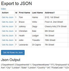 Read and Write (Serialize and Deserialize) JSON String in Asp Net MVC