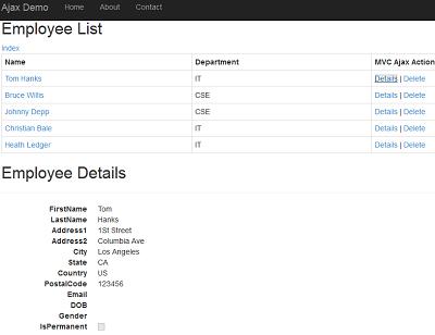 Making Ajax Calls to Controller Action Using Asp Net MVC Ajax Helper