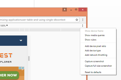 How to Take Screen Shot of Scrolling Full Web Page in Google Chrome