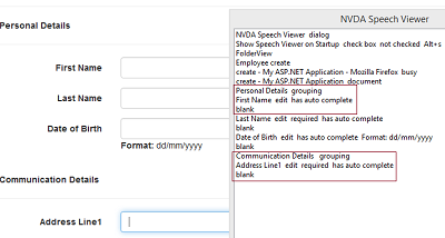 Creating Accessible Input Forms in Asp Net MVC - Section 508