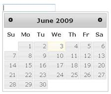 DatePciker using jQuery DatePicker plugin