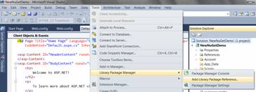 How to Add Packages in NuGet