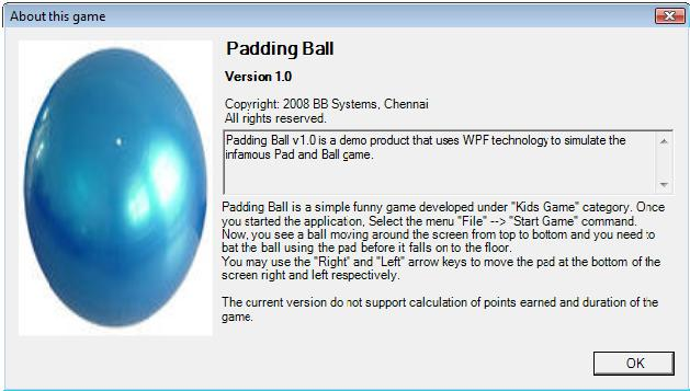 The Padding Ball game in WPF